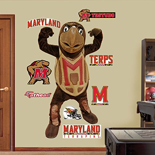 NCAA Maryland Terrapins Testudo Mascot Wall Graphic (Ncaa Poster)