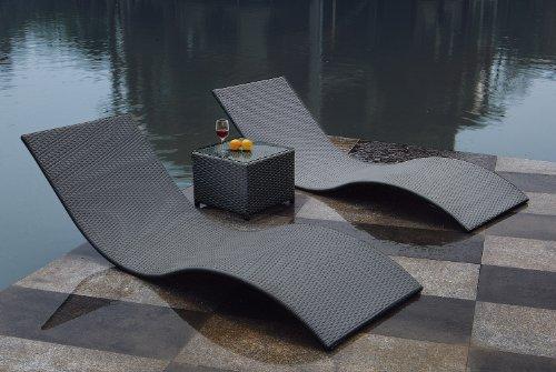 Amazon.de: gartenmoebel-einkauf CALYPSO: 3tlg. Liegen - Set mit ...