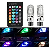 Car Fog Lights,EJ's SUPER CAR 6 LED T10 5050 SMD Interior Lights with Remote Super Bright 16-Color Changing Wireless Remote Control,Headlight Strobe Flash Dash Fog Light
