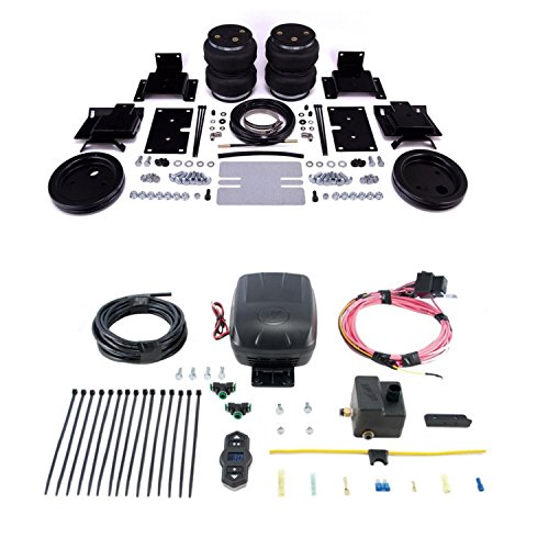 Air Lift 88365 25870 Rear Set of Load Lifter 5000 Ultimate Series Air Springs with Wireless One Single Path On-Board Air Compressor System Bundle for Dodge Ram 1500 ()