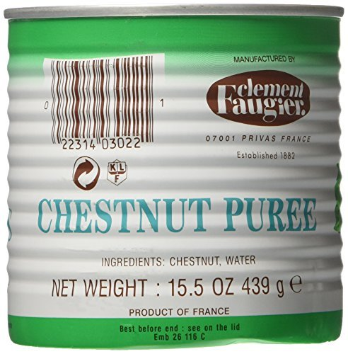 Clement Faugier Chestnut Puree, 15.50-Ounce Cans (Pack of 4)
