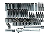 Craftsman 9-43143 Standard and Metric 3/8-Inch Drive Socket Wrench Set, 60-Piece