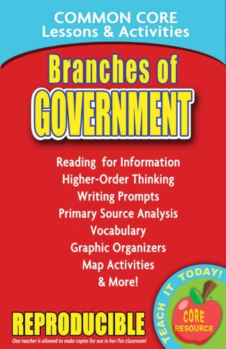 Branches of Government - Common Core Lessons and Activities