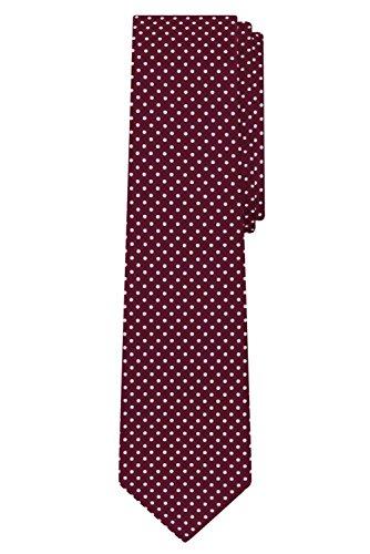 Alexander Tie - Jacob Alexander Polka Dot Print Men's Reg Polka Dotted Tie - Burgundy