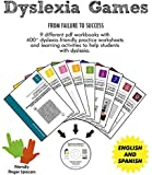 Dyslexia Games | 9 PDF Workbooks for Kids in a CD + Finger Spacers | Puzzles, Mazes, Tessellations, Calligrams, Tangrams, 2D-3D Alphabets and so on | Dyslexia Games for Kids
