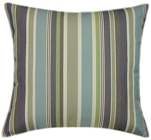 Sunbrella Brannon Whisper Indoor/Outdoor Striped Pillow 14x14 (Small)