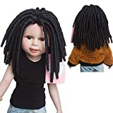 Brand New African American Afro Curly Black Doll Wigs Dreadlocks for 18'' Height American Girl Doll with 10.24 Inch head