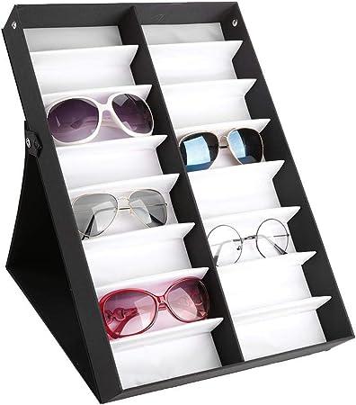 Jadpes Estuche de Almacenamiento de Gafas, Exhibición de la Caja de Almacenamiento de Las Gafas de