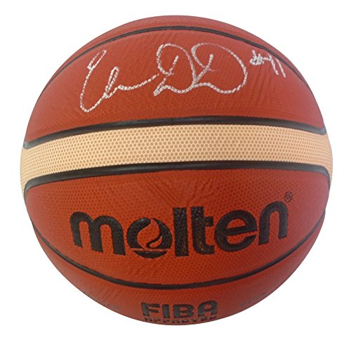 Basketball Team Signed (Team USA Elena Delle Donne Autographed Hand Signed FIBA Molten Basketball with Proof Photo of Signing, Washington Mystics, Chicago Sky, Delaware Fightin' Blue Hens, Connecticut Huskies, COA)