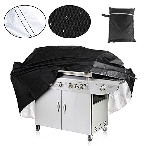 Aodoor Housse Bâche de Protection Barbecue, Protection grill Jardin Patio Poussière Anti-UV Anti-l'eau Anti-l'humidité Grill cover (67 x 24 x 46 inch) Noir