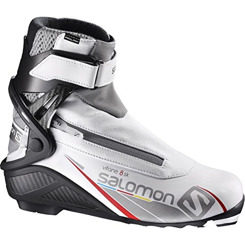 Skate Womens Ski Boots (Salomon Prolink Vitane 8 Skate Ski Boot - Women's White/Black/Silver, US 6.5/UK 5.0)