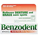 Benzodent Dental Pain Relieving Cream for Dentures