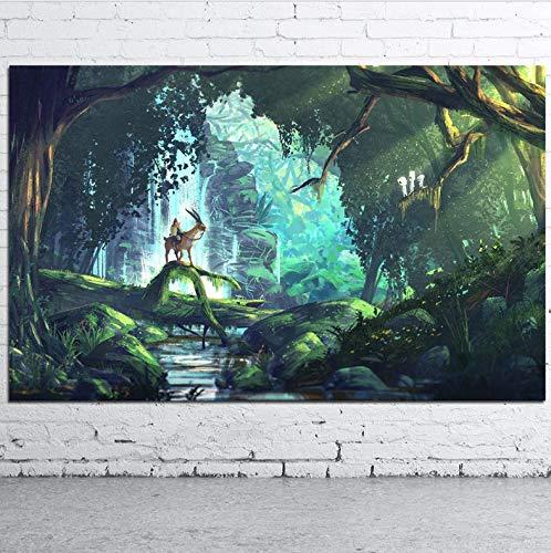 yhnjikl Hayao Miyazaki Princesa Mononoke Anime Movie Art ...
