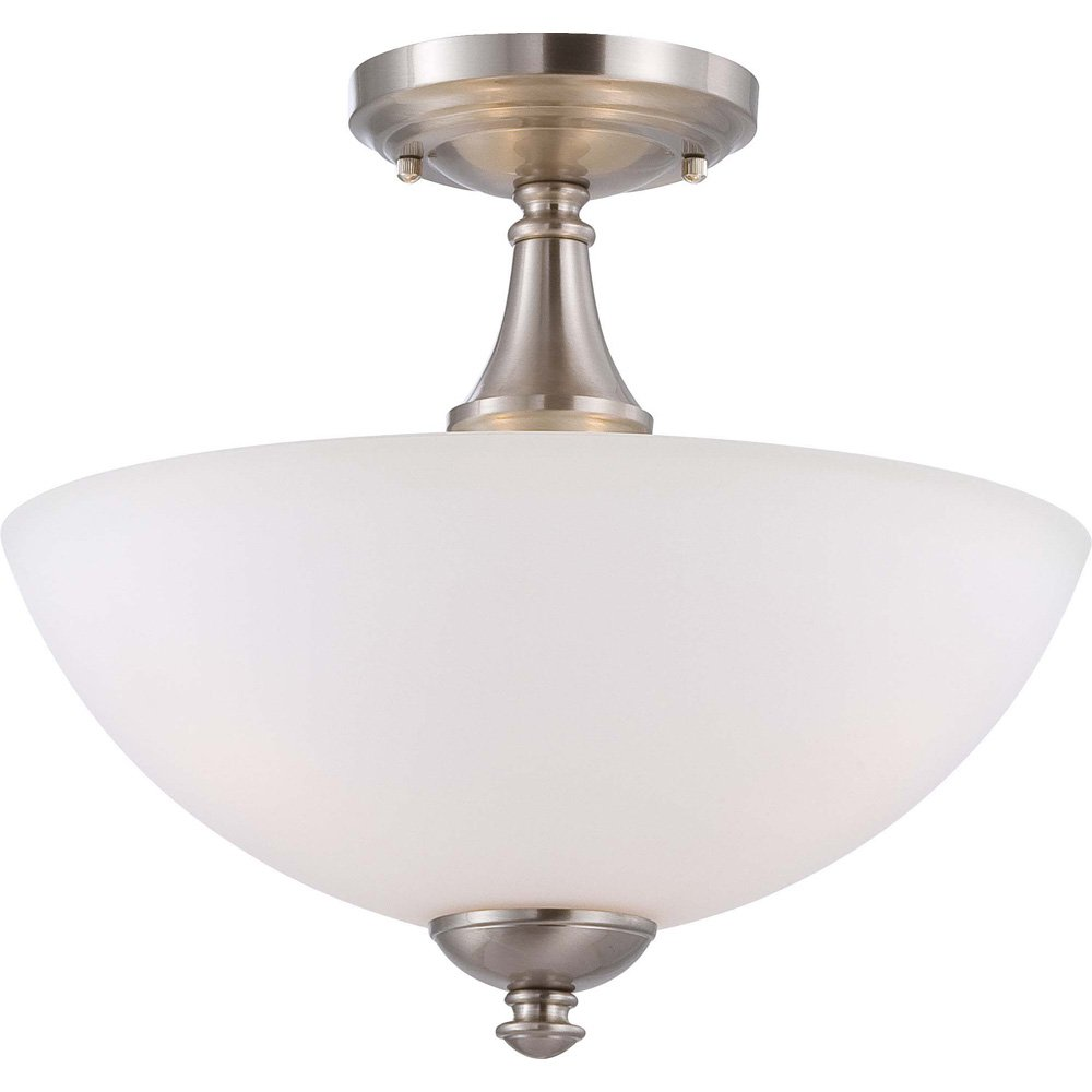 CUL Damp Location Frosted Glass Prairie Bronze Fixture Nuvo Lighting 60//5133 Patton Three Light Vanity 100 Watt A19 Max