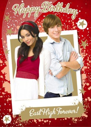 High School Musical 3 Troy Gabriella Birthday Card Hs040 Amazon