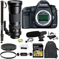Canon EOS 5D Mark III DSLR Camera + Tamron SP 150-600mm F/5-6.3 Lens + Lexar 128GB 633x SDXC Card + Polaroid Pro Micophone + Polaroid 72