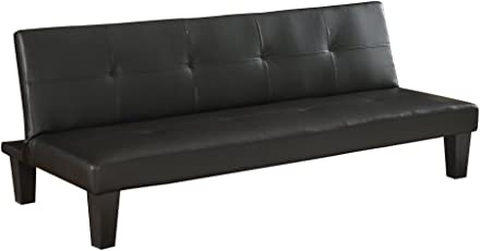 futon sofa bed. Homegear Modern Faux Leather Convertible 3 Seater Sofa/Futon Couch Guest Bed Futon Sofa R