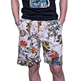 aiNMkm Men's Trousers,Men's New Summer Fashion Casual Color Collision Loose Beach Sport Shorts Pant,Multicolor,XL