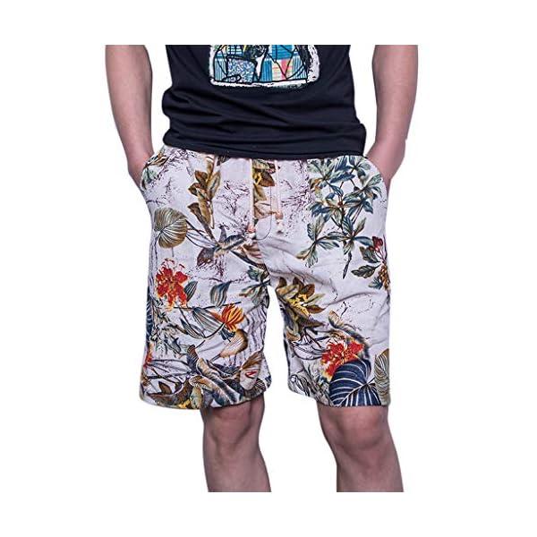 Uomo Estiva Hawaii Pantaloncini con Coulisse da Bagno Protezione UV Surf Mare da Spiaggia Pantaloncini Uomini Casual 3D… 1 spesavip