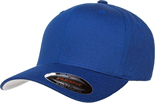 Flexfit Men's THP Premium Cotton Twill Hat, Royal, Small/Medium Black Royal Fitted Hats
