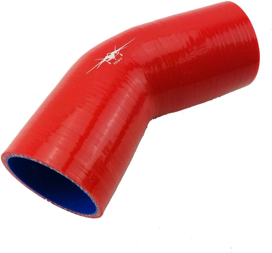 """2.36/"""" to 2.75/"""" 60mm 70mm Silicone Reducer Coupler Turbo Intercooler Hose RED"""