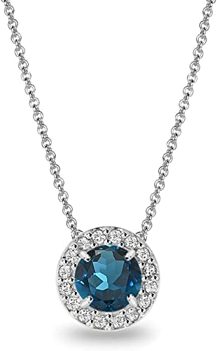 Wedding Jewelry Round Cut White Topaz White Gold Plated Pendant Free Necklace