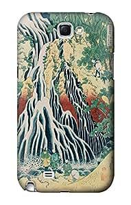 R2491 Hokusai Kirifuri Waterfall at Kurokami Mountain in Shimotsuke Case Cover For Samsung Galaxy Note 2