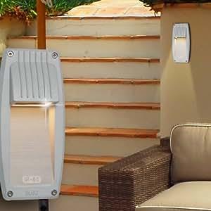 luz led empotrable para pared exterior Ø100mm/plata/gris/aluminio/Foco Lámpara
