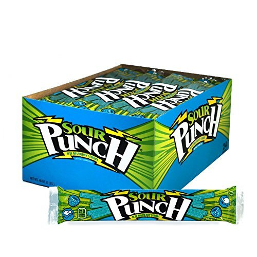 Sour Punch Pineapple Mango Chili Sour Straws 4.5oz Tray (24 Pack)