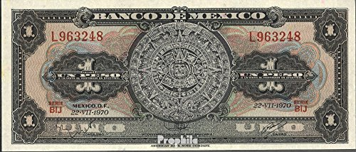 One Peso Note - Mexico Pick-number: 59l 1970 1 Peso (Banknotes for collectors)