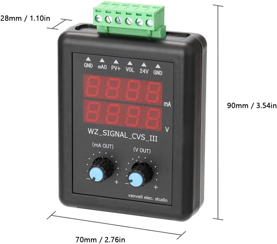 KK moon 4-20mA 0-10V Signal Generator 24V Current Voltage Transmitter Signal Source Constant Current Source with Display Signal Generator