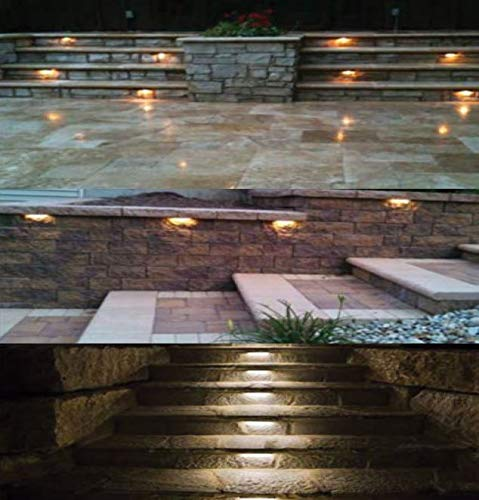 LFU 10 Pack of Odin | 7'' Solid Brass LED Integrated Hardscape Retaining Wall Lights | Warm White, 220Lm Each | Low Voltage | Mounting Brackets Included by Lighting Factory USA (Image #4)