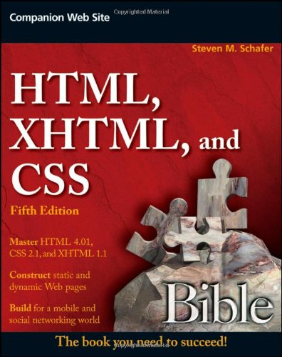 [PDF] HTML, XHTML, and CSS Bible, 5th Edition Free Download | Publisher : Wiley | Category : Computers & Internet | ISBN 10 : 0470523964 | ISBN 13 : 9780470523964