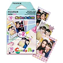 Fujifilm Instax Mini Film Party Pack (Candy Pop and Stained Glass) (20 shots total)