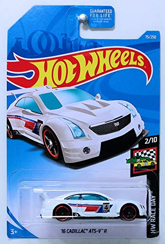 Hot Wheels 2019 Basic Mainline Hw Race Day: '16 Cadillac ATS-V R (White) - International Card