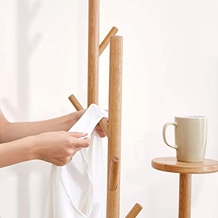 Amazon.com: wenlongshop Floor Coat Rack - All Solid Wood ...