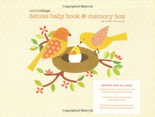Petit Collage Deluxe Baby Book and Memory ()