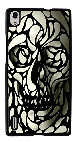 Hard Case for Huawei Ascend P7 ( Skull Tattoo Partterned)