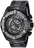 Invicta Men's 'Excursion' Quartz Titanium and Stainless Steel Casual Watch, Color:Black (Model: 24269)