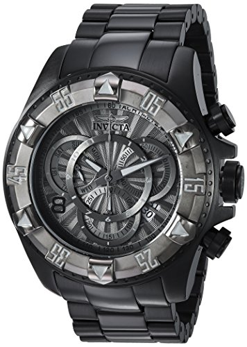 Dial Gunmetal Ss Case - Invicta Men's 'Excursion' Quartz Titanium and Stainless Steel Casual Watch, Color:Black (Model: 24269)