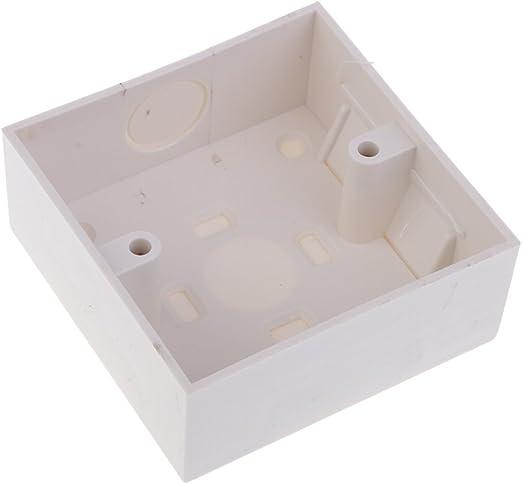 Homyl 1 Pieza de Marca de Enchufe Cuadrada 2 Port 86 x 86mm en Pared de Blanco con Tornillos Cajas Traseras: Amazon.es: Hogar