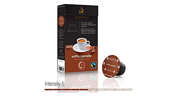 Gourmesso Soffio Cannella (Cinnamon) - 30 Nespresso Compatible Coffee Capsules - Fair Trade: Amazon.com: Grocery & Gourmet Food