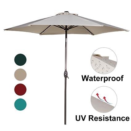 Amazon.com : Abba Patio Outdoor Patio Umbrella 9-Feet Aluminum ...