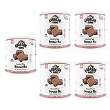 Augason Farms Chocolate Fudge Brownie Mix #10 Can, 3 lbs 14 oz (5 pack)