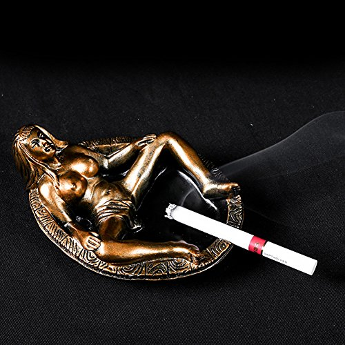 HEYFAIR Creative Naked Girl Car Cigar Ashtray Holder Home Decoration