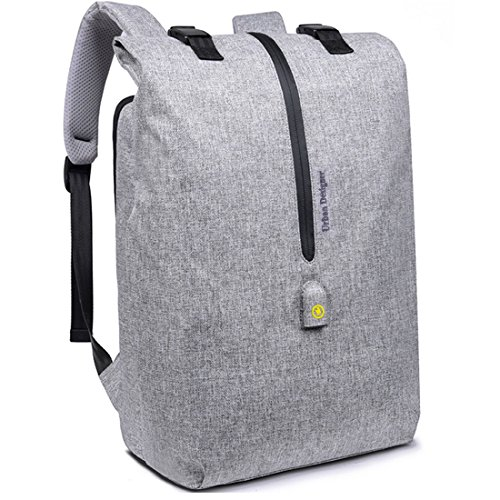Mens Business minimalist Laptop Backpack,Anti-theft Waterproof Lightweight (Grey)