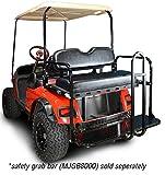 Madjax 01-031 Genesis 150 Rear Flip Seat Kit for 2007-Up Yamaha G29/''Drive'' Golf Carts Black Cushions