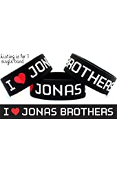 I Love Jonas Brothers Wristband One Inch Concert Bracelet