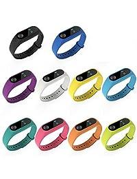 Pulsera Xiaomi Mi Band 2 x 10 Piezas, Gosear® Mi Band 2 Correa Silicona de Reemplazo Reloj de Pulsera Banda Correa