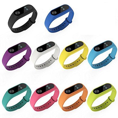Gosear Pulsera Xiaomi Mi Band 2 x 10 Piezas, Mi Band 2 Correa Silicona de Reemplazo Reloj de Pulsera Banda Correa